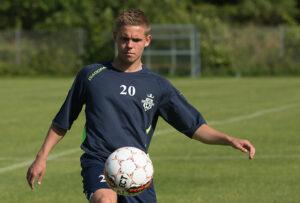 FODBOLD: Prøvespilleren Daniel Thorup ved FC Helsingør's træningsstart den 6. juli 2015 i Helsingør Idrætspark Foto: Claus Birch