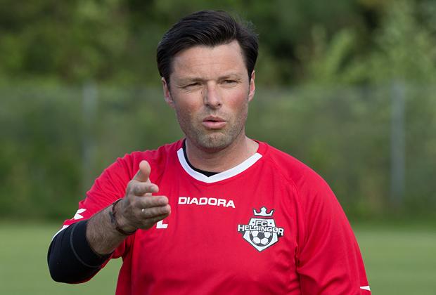 FODBOLD: Cheftræner Christian Lønstrup ved FC Helsingør's træningsstart den 6. juli 2015 i Helsingør Idrætspark Foto: Claus Birch