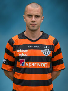 FODBOLD: Klaus Lykke i udebanedragten ved FC Helsingør's officielle fotosession den 23. juli 2015 på Helsingør Stadion. Foto: Claus Birch