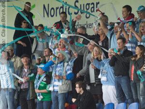 FODBOLD: under kampen i 2. Division Øst mellem Nykøbing FC og FC Helsingør den 28. september 2014 på Nykøbing Falster Stadion, Enelco Arena. Foto: Claus Birch